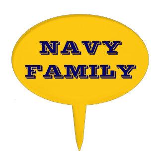 Cake Topper Navy Family