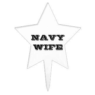 Cake Topper Navy Wife