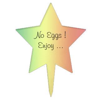 Cake topper - No Eggs
