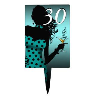 CAKE TOPPER Polka Dot 30th Birthday teal | aqua