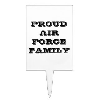 Cake Topper Proud Air Force Family