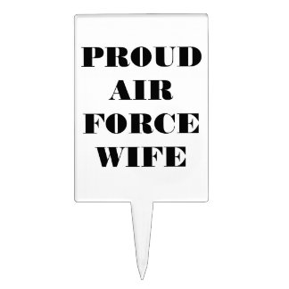Cake Topper Proud Air Force Wife