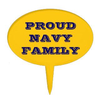 Cake Topper Proud Navy Family
