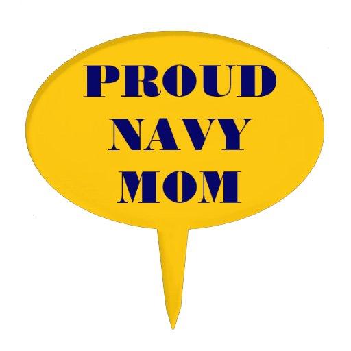 Cake Topper Proud Navy Mom