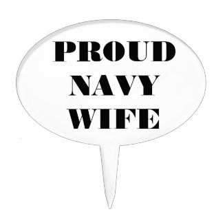 Cake Topper Proud Navy Wife