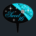 "CAKE TOPPER Sweet 16 Bling<br><div class=""desc"">Sweet 16 Bling cake topper pick. This beautiful design works well for weddings,  birthdays,  bridal showers or any special occasion. Use the orange customize it button above to add your own text.</div>"