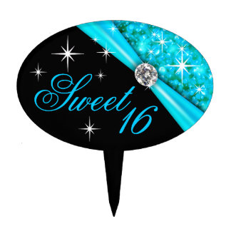 CAKE TOPPER Sweet 16 Bling