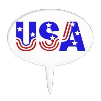 Cake Topper - USA in Stars & Stripes