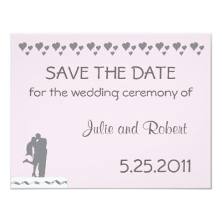 """Cake Topper Wedding Save The Date 4.25"""" X 5.5"""" Invitation Card"""