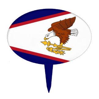 Cake Topper with Flag of American Samoa USA