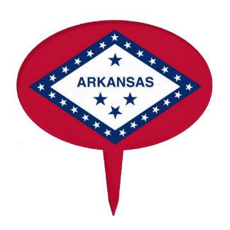 Cake Topper with Flag of Arkansas, USA