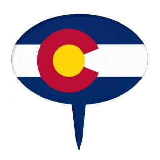 Cake Topper with Flag of Colorado, USA