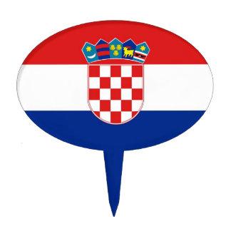 Cake Topper with Flag of Croatia