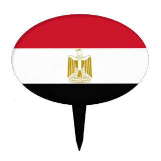 Cake Topper with Flag of Egypt
