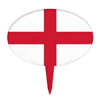 Cake Topper with Flag of England
