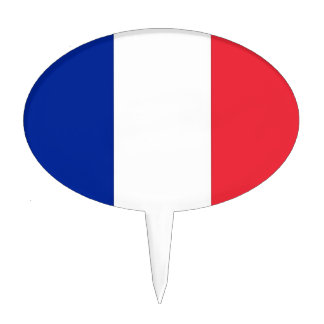 Cake Topper with Flag of France