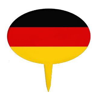 Cake Topper with Flag of Germany