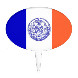 Cake Topper with Flag of New York, USA