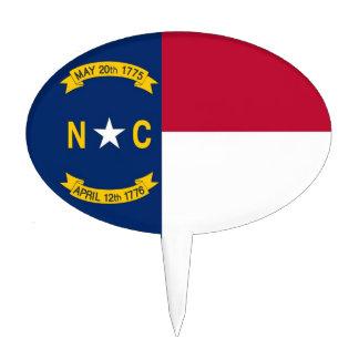 Cake Topper with Flag of North Carolina, USA