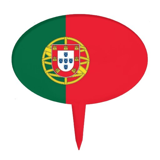 Cake Topper with Flag of Portugal