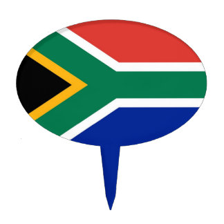 Cake Topper with Flag of South Africa