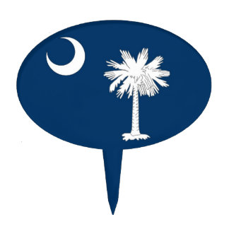 Cake Topper with Flag of South Carolina, USA