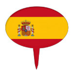 Cake Topper with Flag of Spain