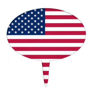Cake Topper with Flag of USA