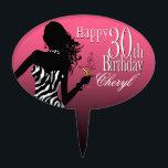 "CAKE TOPPER Zebra 30th Birthday pink white<br><div class=""desc"">30th Birthday zebra cake topper pick</div>"