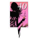 CAKE TOPPER Zebra 40th Birthday Diva - pink