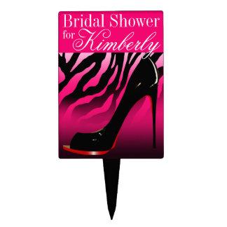 CAKE TOPPER Zebra Stiletto Bridal Shower