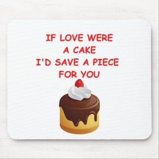cake valentine mousepads