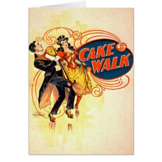 Cake Walk 1898 Card