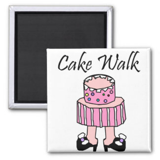 Cake Walk 2 Inch Square Magnet