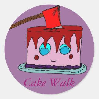 Cake Walk Classic Round Sticker
