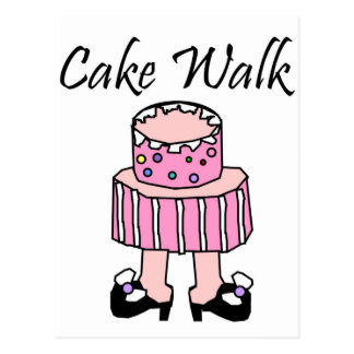 Cake Walk Postcard