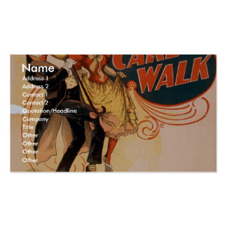 Cake Walk Retro Theater Business Card Templates