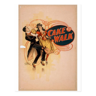 Cake Walk Retro Theater Postcard