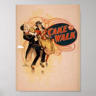 Cake Walk Retro Theater Poster