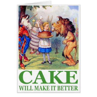 CAKE WILL MAKE IT BETTER GREETING CARDS