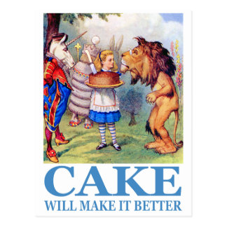 CAKE WILL MAKE IT BETTER POST CARD