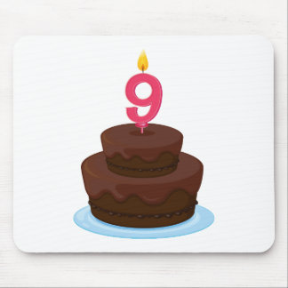 cake with candle mouse pad