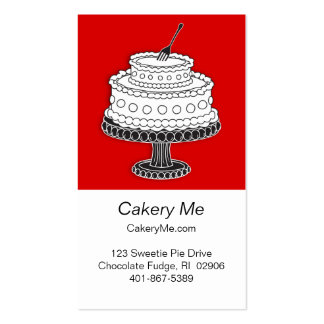 Cake with fork ready! business card