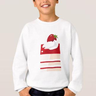 Cake with strawberry sweatshirt