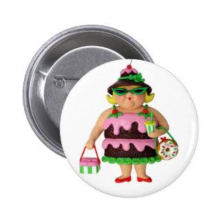 Cake Woman Button