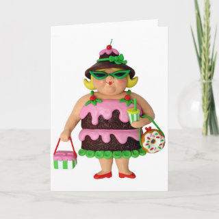 Cake Woman Cards