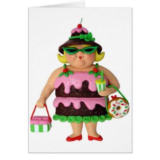 Cake Woman Cards