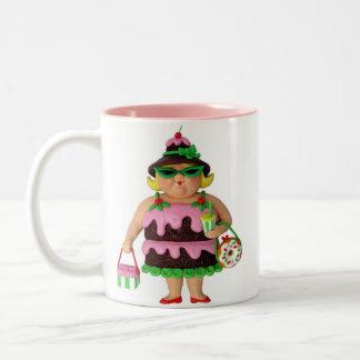 Cake Woman Two-Tone Coffee Mug