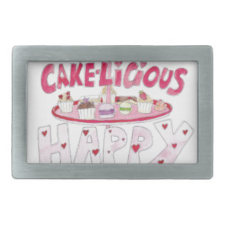 Cakelicious Happy Birthday Belt Buckle