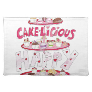 Cakelicious Happy Birthday Cloth Placemat